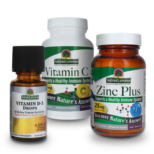 Vitamin C D3 and Zinc Value Pack
